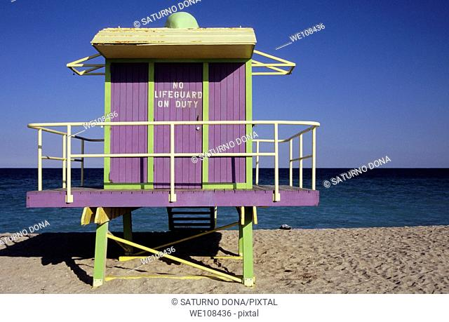 lifeguard tower - miami beach
