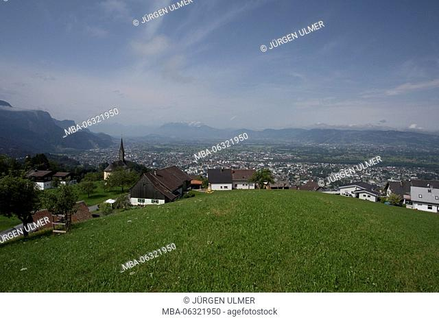 View at Oberfallenberg, Dornbirn and Hohenems
