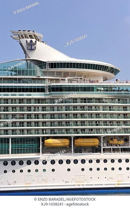 Cruise ship docked in the port of Santa Cruz de Tenerife, Canary Islands
