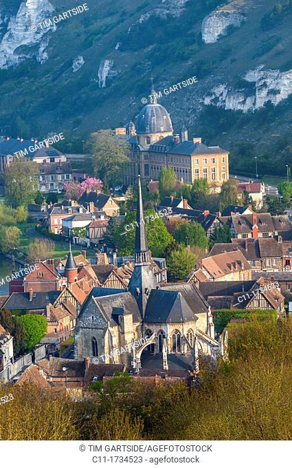 Les Andelys, Chateau Gaillard, River Seine, Eure, Normandy, France