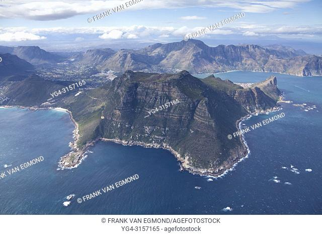 Areal of Hout Bay, showing Hangberg, The Sentinel, South Africa