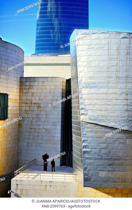Guggenheim museum, Bilbao, Euskadi, Biscay, Bizkaia, Basque Country, Spain, Europe