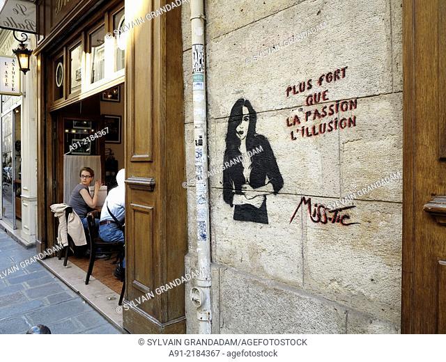 """""""France, Ile-de-France, Paris (75), Latin quarter, african art exhibitions during"""""""""""""""" Parcours du Monde"""""""""""""""" fair"""""""