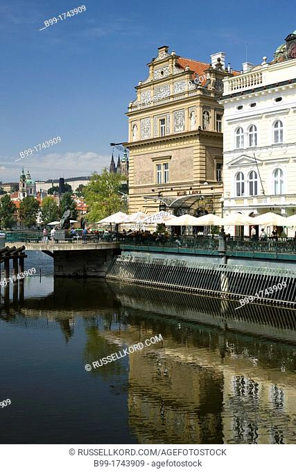 Outdoor Cafes Smetana Museum Old Town Stare Mesto Prague Czech Republic