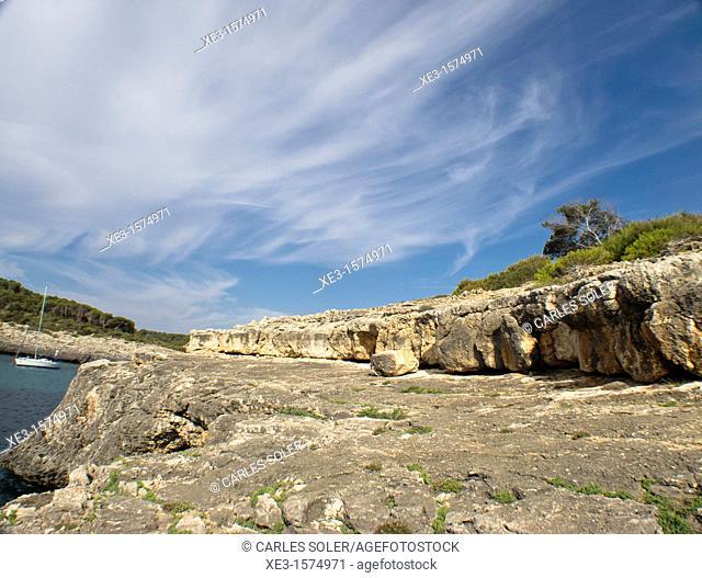 On the rocks, under the blue sky, Majorca