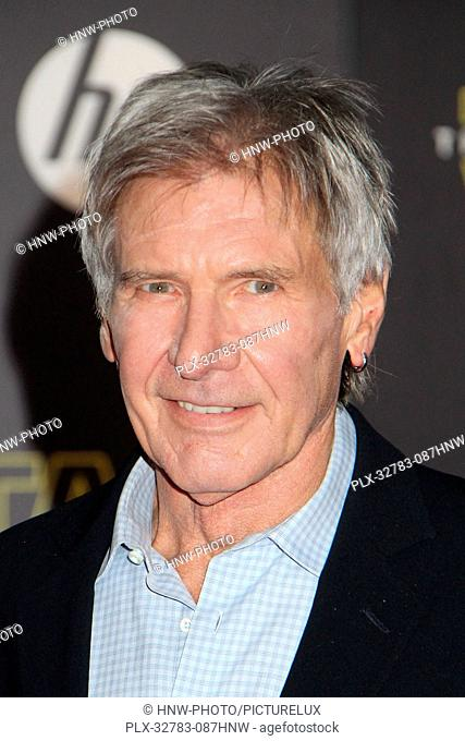 Harrison Ford 12/14/2015 Star Wars The Force Awakens Premiere held at the Dolby Theatre in Hollywood, CA Photo by Kazuki Hirata / HNW / PictureLux