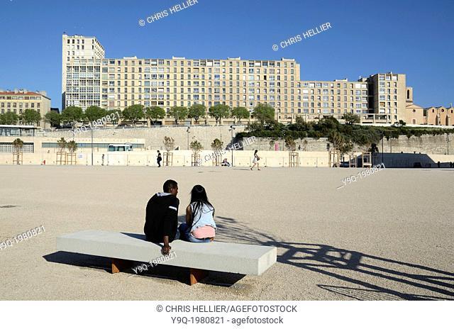 Housing Estate La Tourette & Immigrant Couple Marseille France