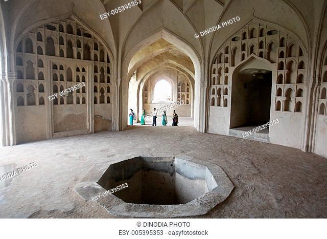 Interior of golconda fort , Hyderabad , Andhra Pradesh , India