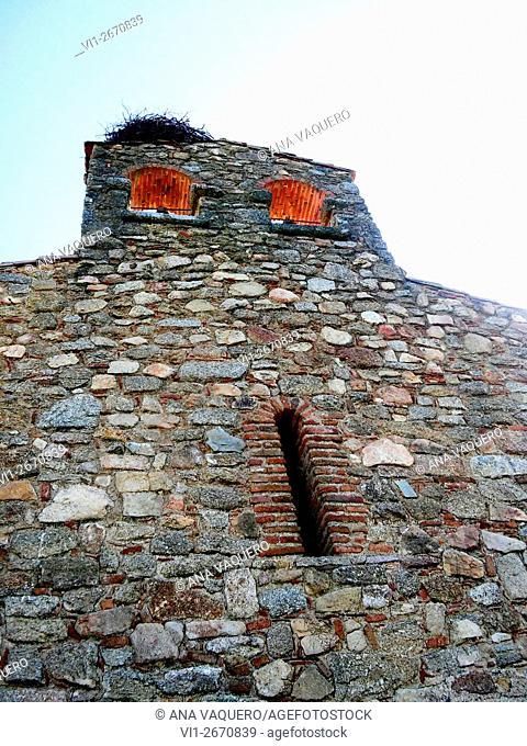 Torrequemada bell gable, Cáceres, Extremadura, Spain