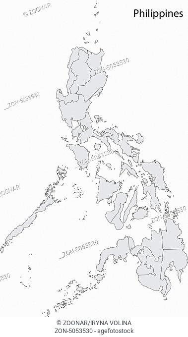 Grey Philippines map