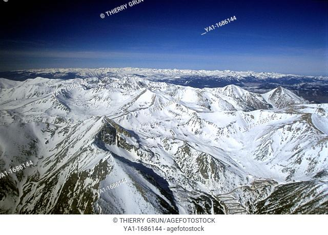 Mount Puigmal, Segre and Dona peaks near Bourg Madame, Eastern Pyrenees, Languedoc-Roussillon region, France