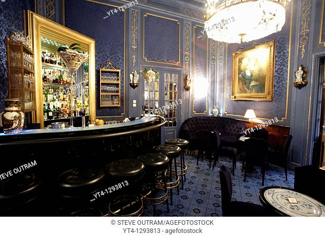 The elegant Blaue Bar at Hotel Sacher, Vienna, Austria  Property Released