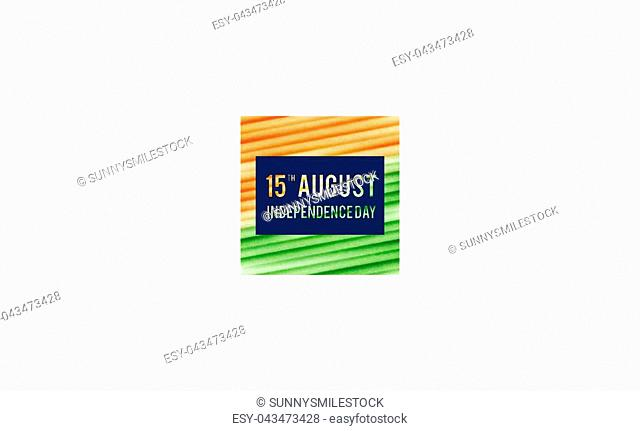 Background for Indian Republic day and Independence day. Vector illustration of Indian flag theme
