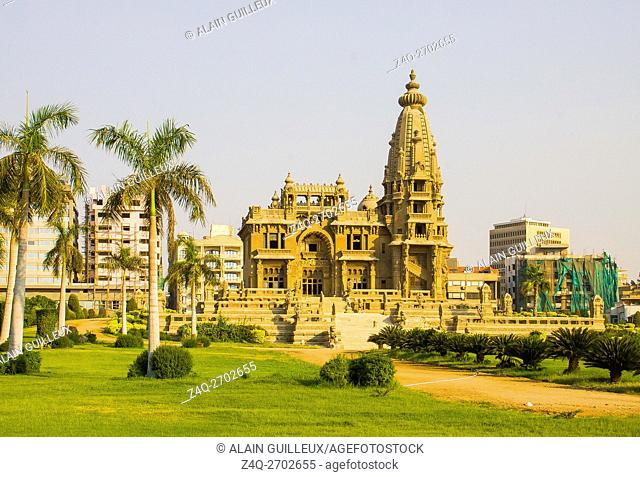 Egypt, Cairo, the Modern Heliopolis town was built by the Baron Empain at the beginning of the 20th century. The palace of the Baron Empain, Khmer style