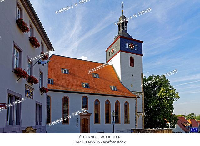 Protestant Peter's church, 15th century, before 1139, Remigius church, Kirchheimbolanden Germany