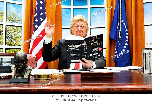 A President Trump lookalike brings The Oval Office to London's Waterloo Station to mark today's global release of James Patterson and Bill Clinton's co-authored...