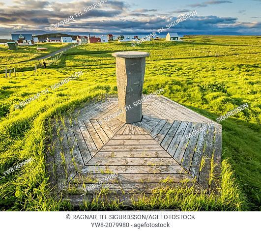 Marker, Flatey Island, Borgarfjordur, Iceland
