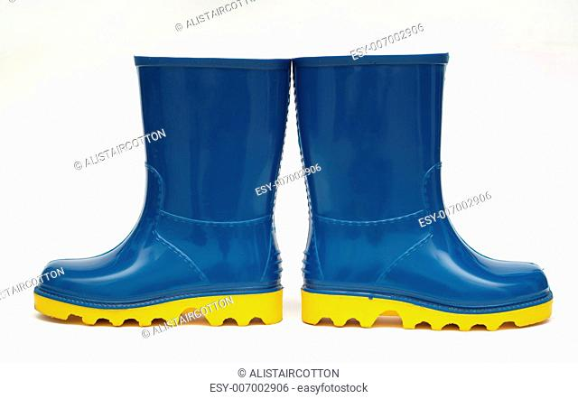Rain boots wellington decision this way or that school or education concept