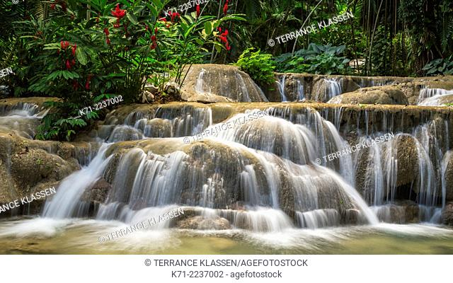 A waterfall at the Turtle River Falls near Ocho Rios, Jamaica