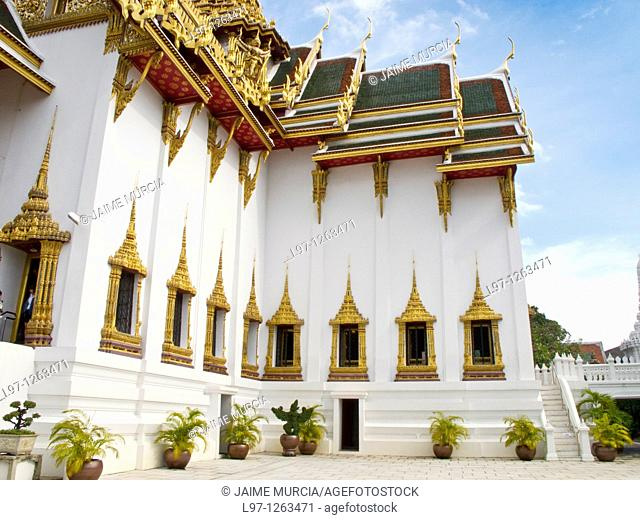 The Dusit Prasat Throne Hall at the Grand Palace complex Bangkok Thailand