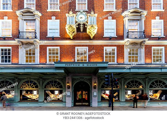 Fortnum & Mason Department Store, Piccadilly, London, England