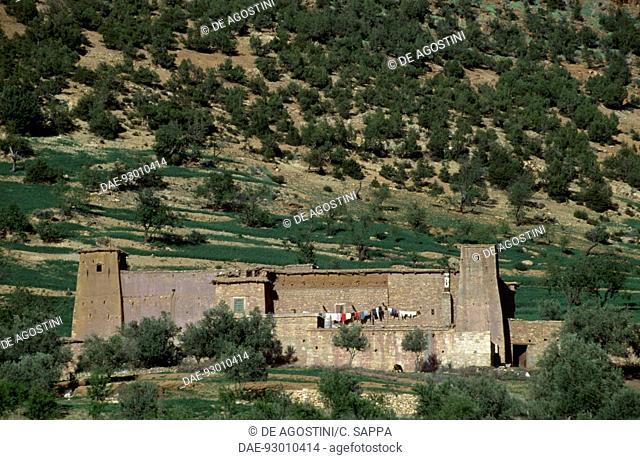 Building near Ouzoud Falls, Middle Atlas mountains, Morocco