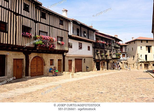 La iglesia square, La Alberca, Salamanca province, Castilla-Leon, Spain