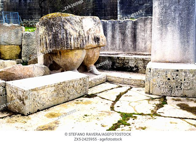 Reproduction of Mother Earth statue at the archaeological complex of Tarxien Temples - Malta