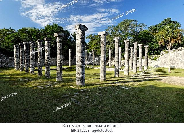 El Mercado, market, Maya and Toltec archeological site Chichen Itza, new worldwonder, Yucatan, Mexico