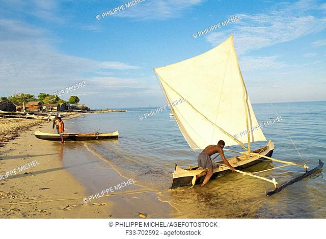 Madagascar Ifaty, fishing village of Vezo ethnic group. Around Tulear
