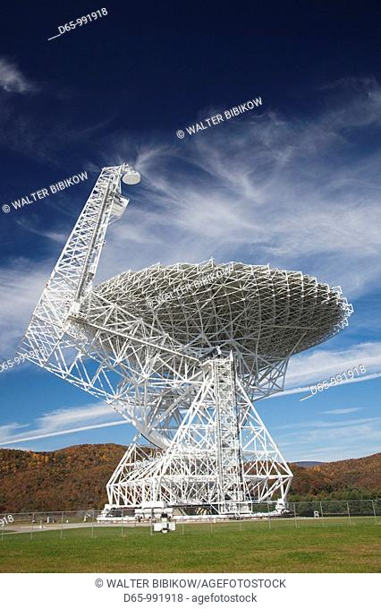 USA, West Virginia, Green Bank, National Radio Astronomy Observatory, Robert C  Byrd Green Bank Telescope GBT, the world's largest fully steerable radio...