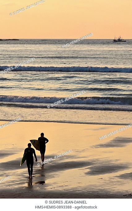 France, Pyrenees Atlantiques, Basque Country, Hendaye beach