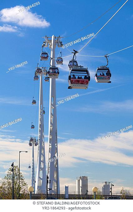 Air line emirates cable car, London, England, Stock Photo