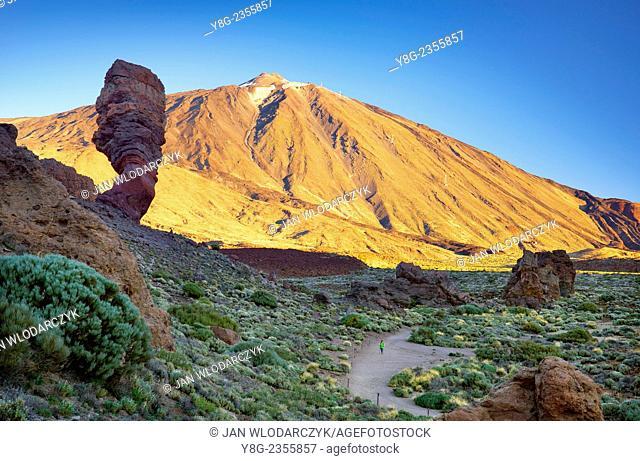 Mount Teide and Los Roques de Garcia, Teide National Park, Canary Islands, Tenerife, Spain
