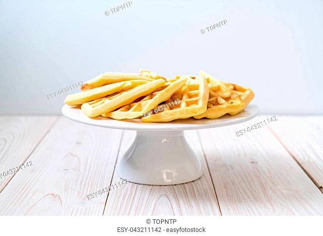 waffle stack on the table