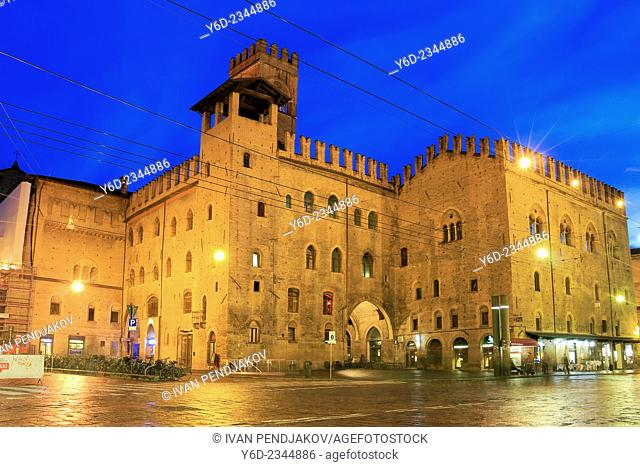 San Petronio Basilica at Dusk, Bologna, Italy
