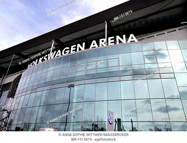 Volkswagen Arena Wolfsburg, soccer stadium, Wolfsburg, Lower Saxony, Germany, Europe