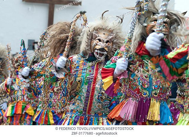 Even Saqra, despite representing the devils tempting parade in the day before to greet the Madonnaâ. ¦but they don't entry inthe church. Peru