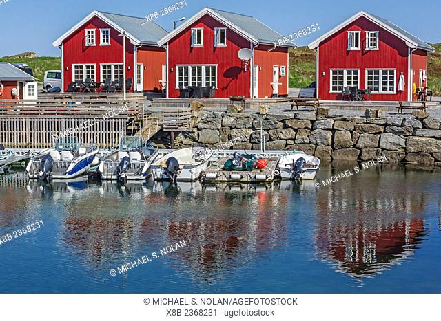 The small Norwegian fishing village of Nes, designated a World Heritage Site in 2004, Vega Island, Norway