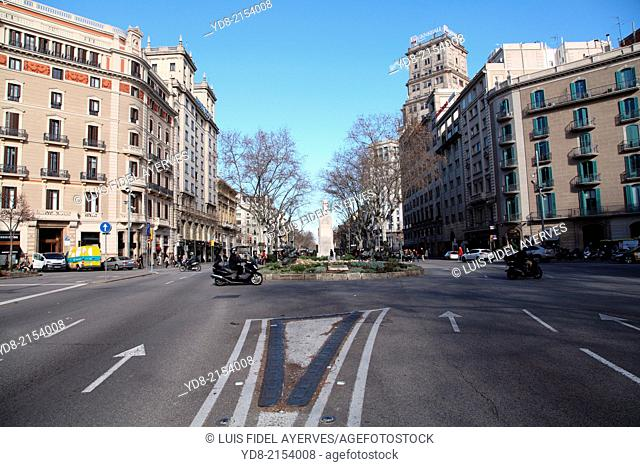 Gran Via de les Corts Catalanes, Barcelona, Catalonia, Spain