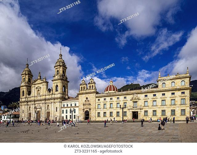 Cathedral of Colombia and Tabernacle Chapel, Bolivar Square, Bogota, Capital District, Colombia