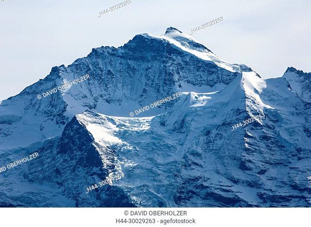 The Alps, mountains, the Bernese Oberland, autumn, Jungfrau, sceneries, Niederhorn, Switzerland