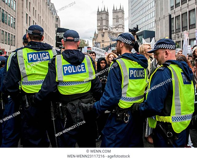 Arrests made as students clash with police during a protest against student fees and cuts to student grants. Featuring: View Where: London