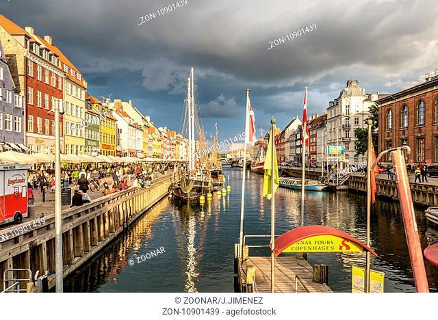 Nyhavn harbour in Copenhagen