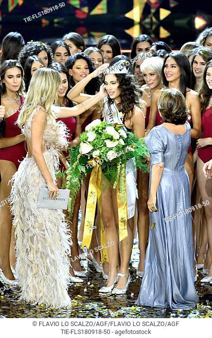 Carlotta Maggiorana winner of Miss Italia 2018 at the final of Miss Italia 2018, Milan, ITALY-17-09-2018