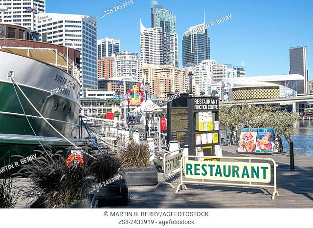 South Steyne original manly Ferry now a function restaurant in Sydney Darling Harbour, Australia