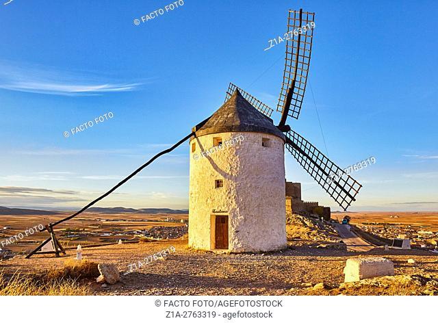 Windmill of Consuegra. Don Quixote route. Toledo. Castile-La Mancha. Spain