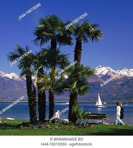 10019260, mountains, Lago Maggiore, lake, sea, Lucerne, promenade, Switzerland, Europe, lake, sea, Ticino