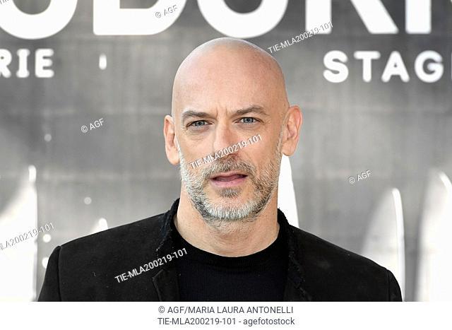 Filippo Nigro during photocall of the second season of Italian fiction 'Suburra', Rome 20-02-2019