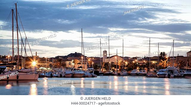 Italy Sardinia Palau harbour sunset